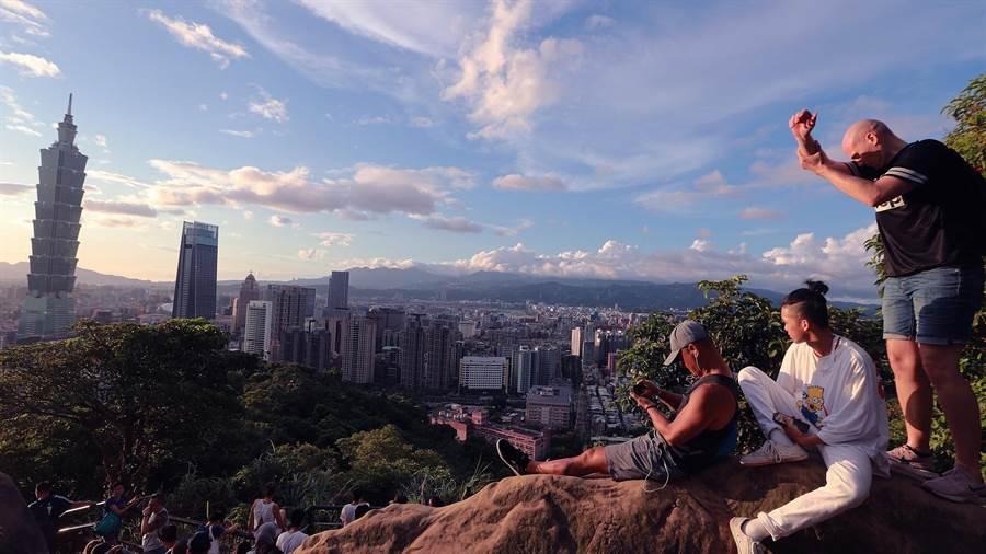 象山親山步道俯瞰101美景(中時資料照)