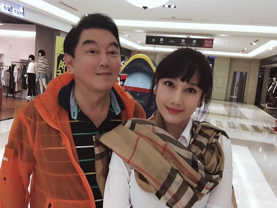 陳子璇趁著長假返台與丈夫高國華去高雄玩。(高國華提供)