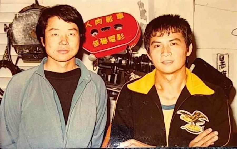 導演王銘燦(左)及李小飛。