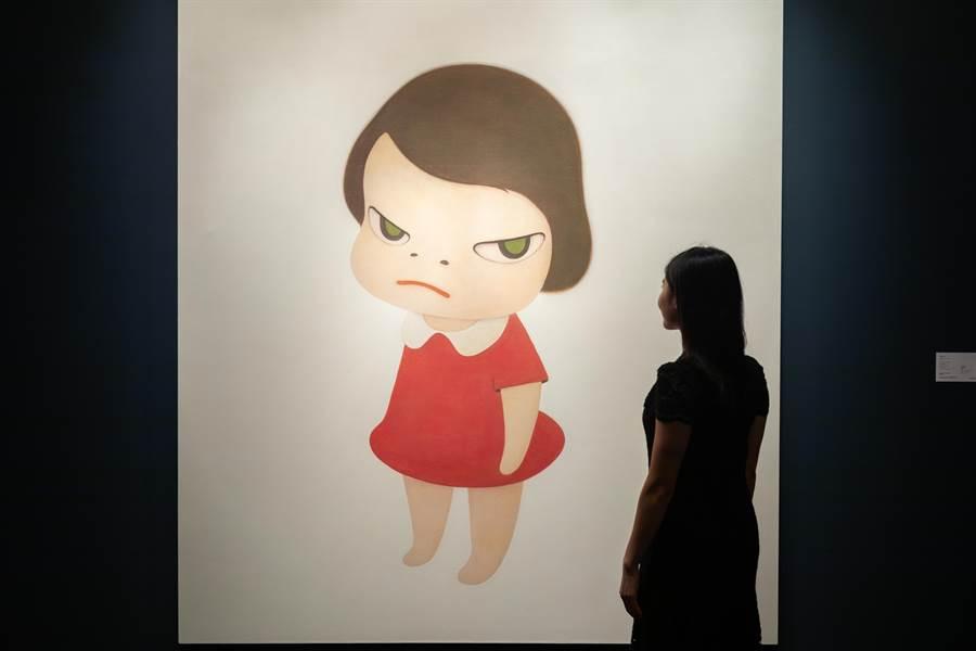 奈良美智《背後藏刀》創下1.96億的拍賣紀錄,也使得他成為身價最高的日本藝術家。(香港蘇富比提供/李怡芸台北傳真)