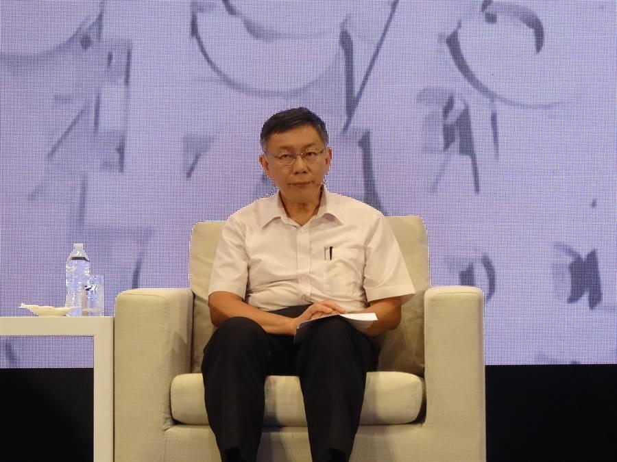 台北市長柯文哲將在國慶連假最後一天到台中中友百貨誠品書局辦簽書會。(馮惠宜攝)