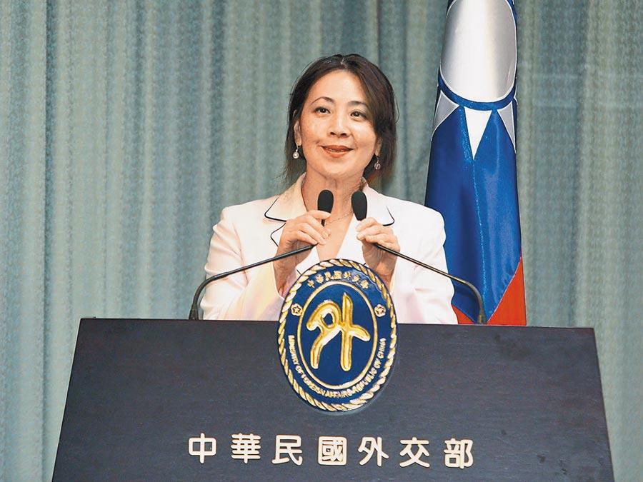 圖為外交部發言人歐江安,她昨日出面表示,賀電不是安倍政府發出的,但基於台日互信不方便透露來源。(本報系資料照片)