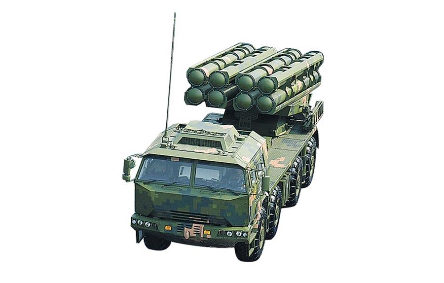 新型箱式火箭炮。(新華社)