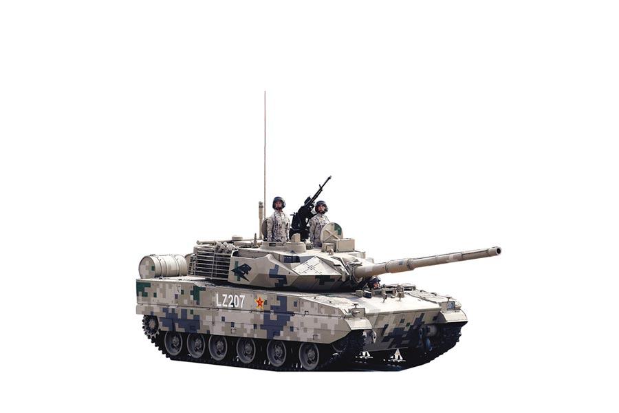 10月1日,中共建政70周年閱兵在北京天安門廣場舉行,15式坦克接受檢閱。(新華社)