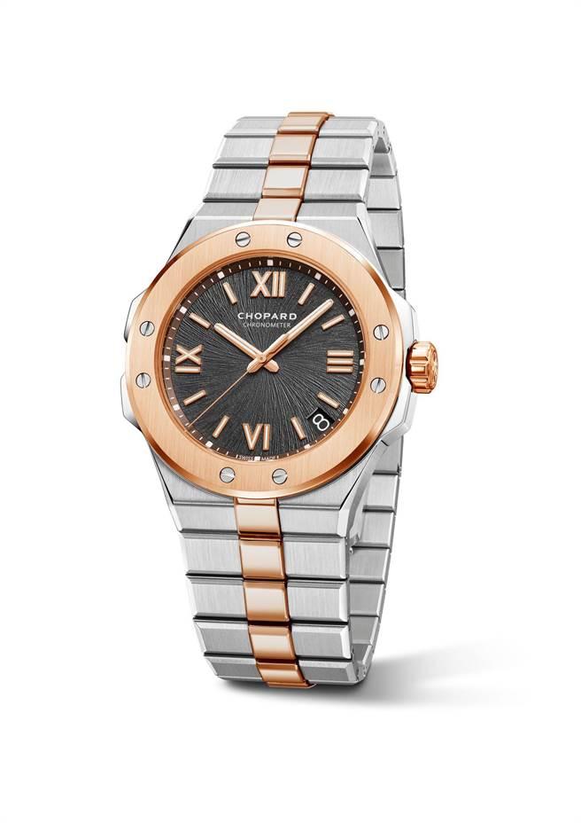蕭邦Alpine Eagle系列精鋼與玫瑰金雙色腕表,42mm,65萬6000元。(CHOPARD提供)