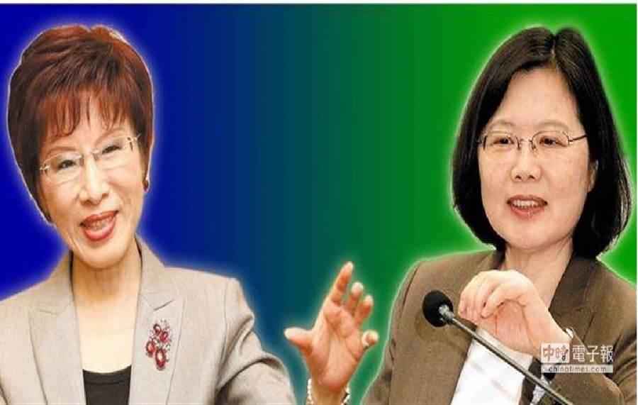 國民黨前主席(左)、總統蔡英文(右)。(圖/合成圖,本報資料照)