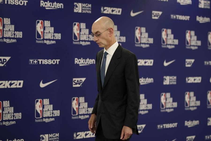 NBA總裁席爾佛想在上海跟姚明見面的願望徹底落空。(美聯社)