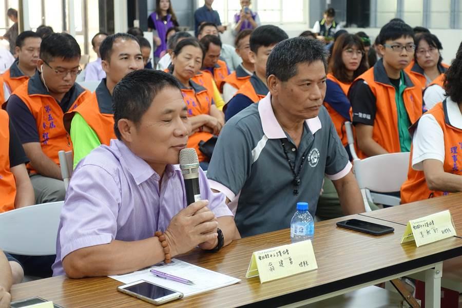 雲林縣中小企業協會理事長翁建富針對國土規畫提建議。(許素惠攝)