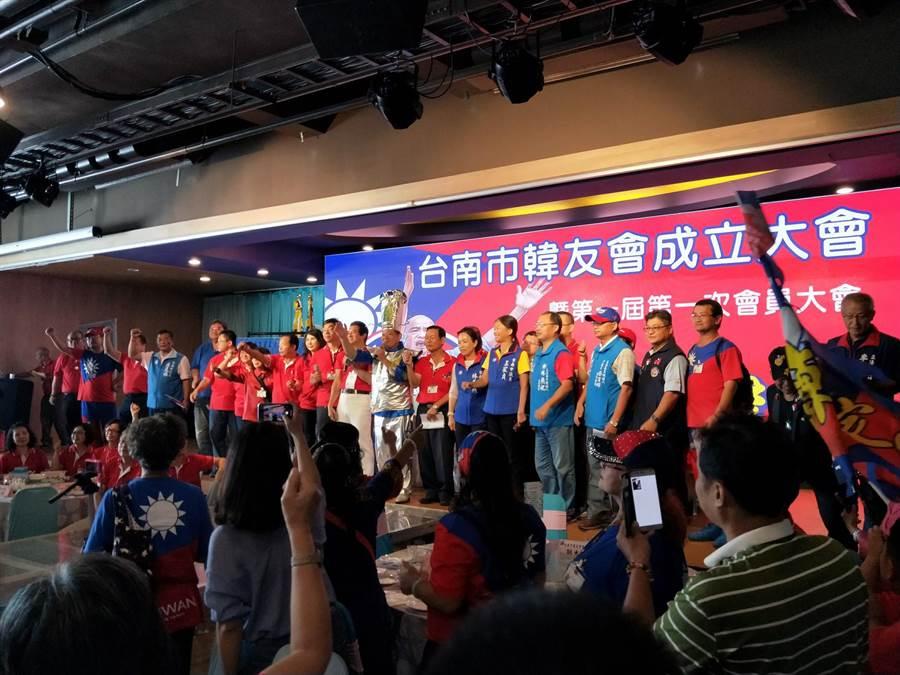 台南市韓友會成立大會,現場氣氛熱烈。(洪榮志攝)