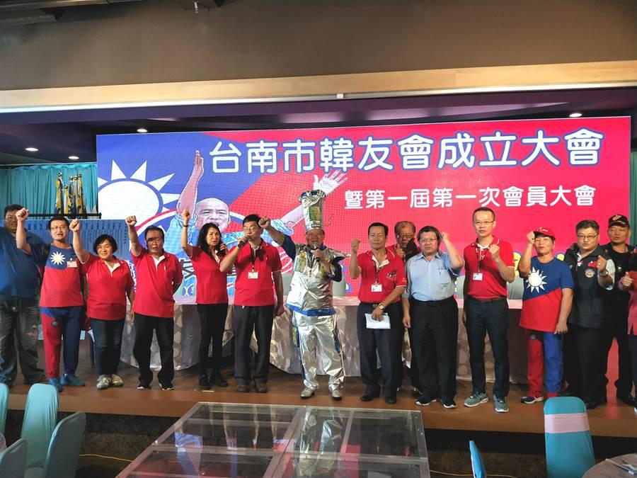 台南市韓友會舉行成立大會選出首屆理監事。(洪榮志攝)