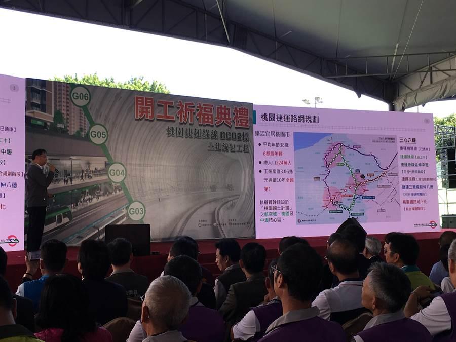 捷運綠線GC02土建標11日舉行開工祈福典禮。(甘嘉雯攝)