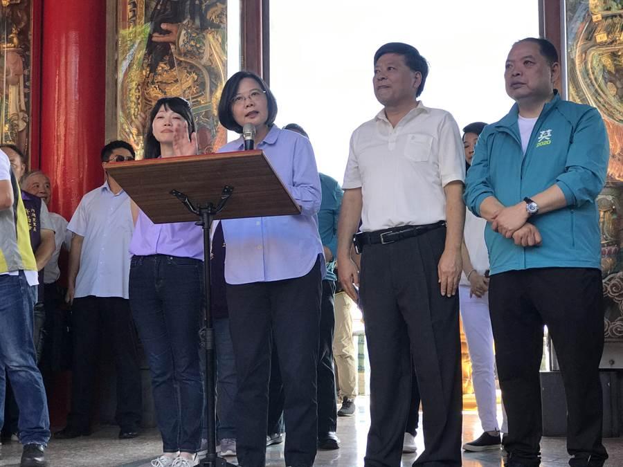 裴洛西賀電  總統:持續合作維持區域和平。照片:曾薏蘋攝