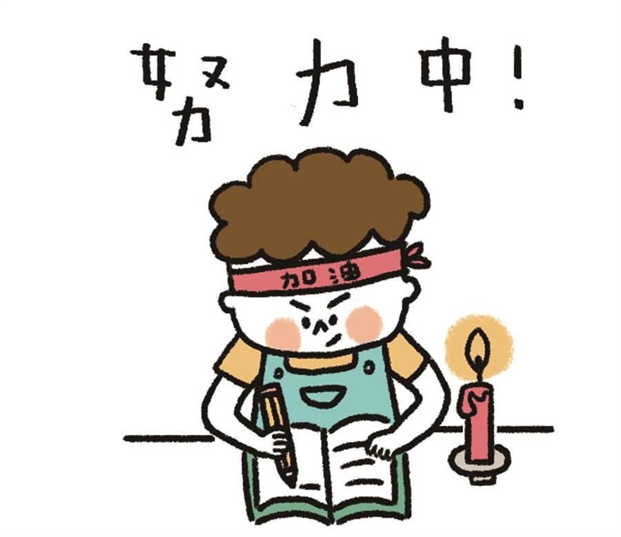 何大栗表示,以「蠟燭」來表達偏鄉孩童常面臨的讀書環境。(何大栗提供/張毓翎嘉義傳真)