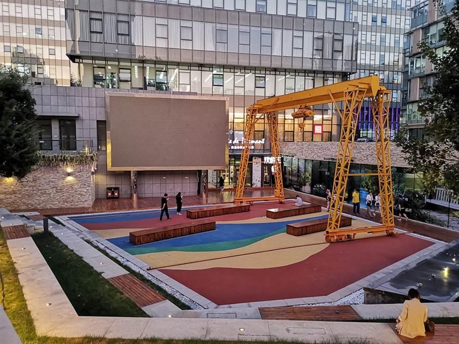 北京四環外的創業園區,有員工們遊戲、放鬆的地方。(作者提供)