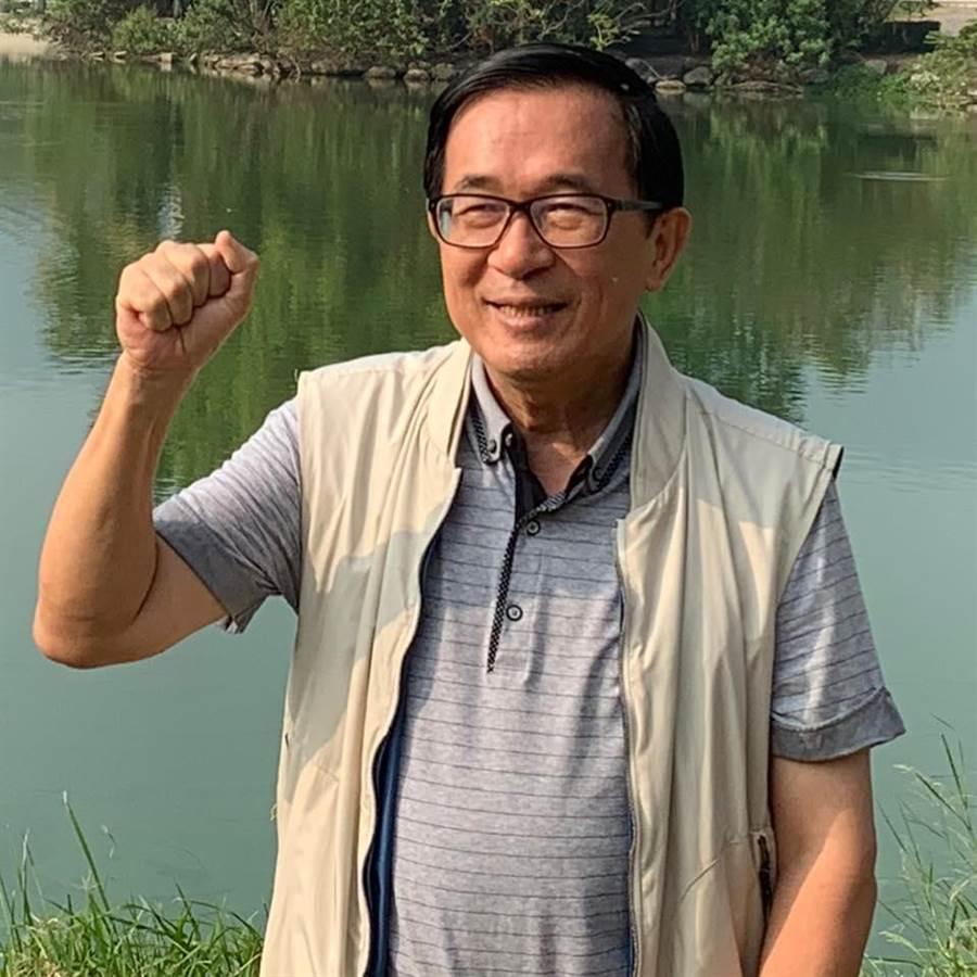 扁:韓國瑜支持度成長空間大於蔡英文。照片摘自陳水扁新勇哥物語臉書