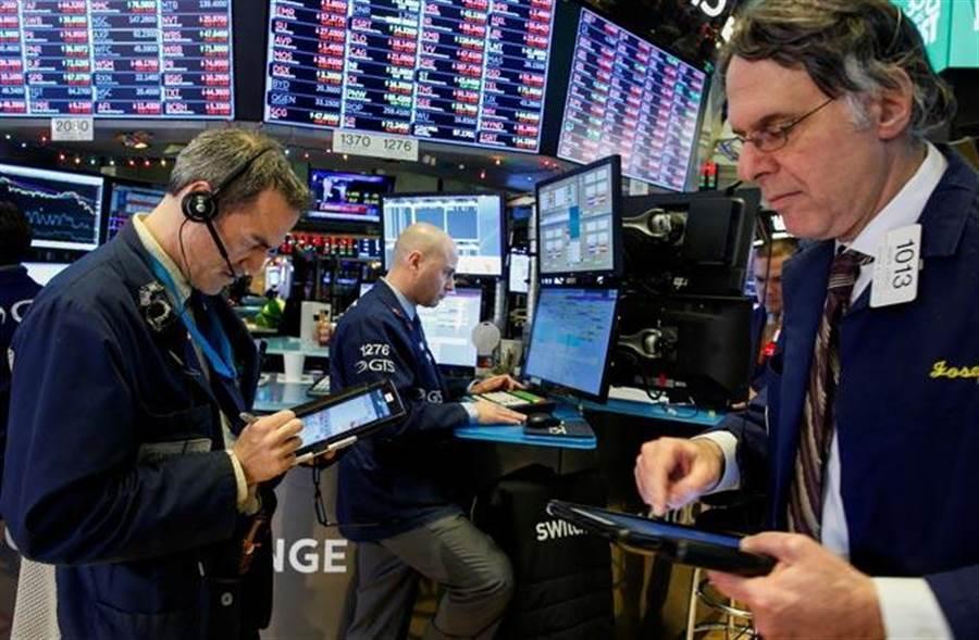 美股早盤大漲超過300點。(圖/路透)