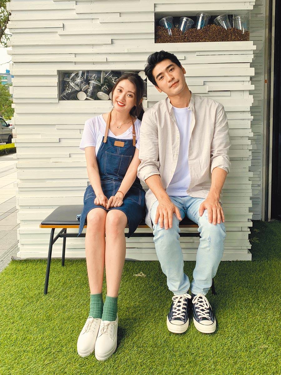 林逸欣(左)新歌MV邀涂善存合作。(旋轉娛樂提供)