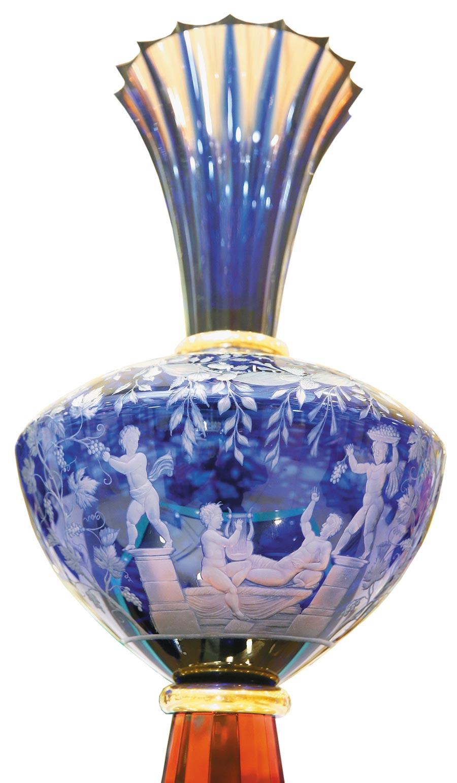 摩瑟水晶傳唱波特蘭花瓶系列永恆的波特蘭。(粘耿豪攝)