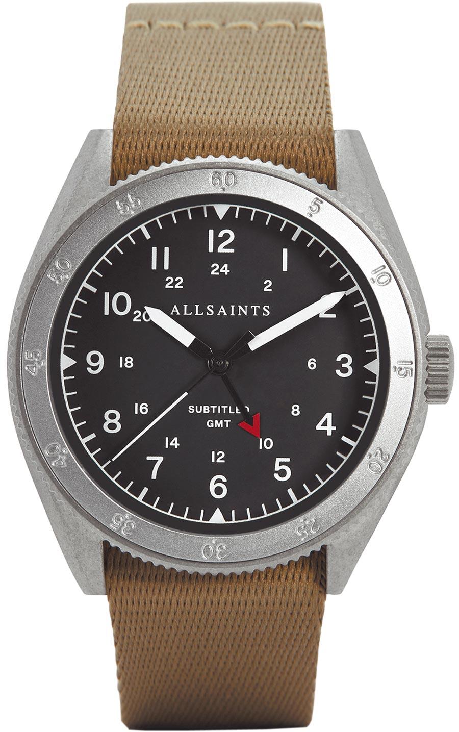 AllSaints SUBTITLED GMT II腕表,7600元。(AllSaints提供)