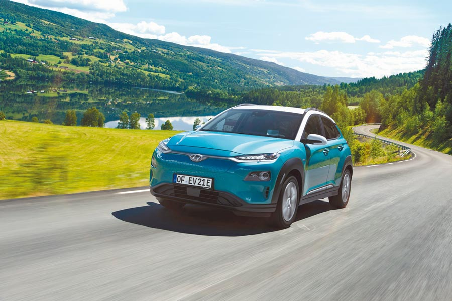 KONA Electric擁有470公里巡航能力,是HYUNDAI在國際電動車市的銷售主力,未來也將引進台灣。(HYUNDAI提供)