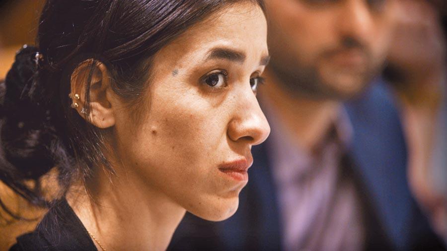紀錄片《倖存的女孩》陳述去年的諾貝爾和平獎得主娜迪雅.穆拉德,在廣獲世人關注後的心聲。(台灣國際女性影展提供)