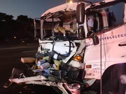 硫酸槽車國道車禍  1人受傷送醫