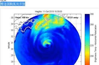強颱哈吉貝襲日 李富城驚說:看這個颱風有多強