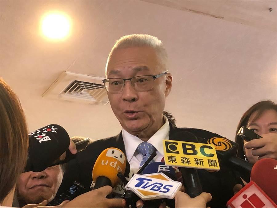 國民黨主席吳敦義上午參加第67屆華僑節大會。(趙婉淳攝)