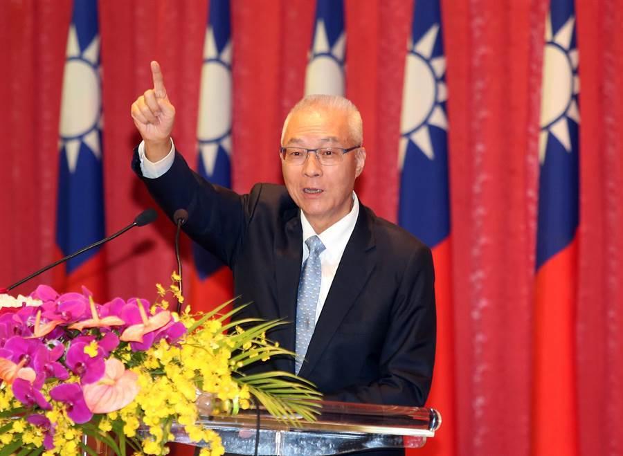 國民黨主席吳敦義。(趙雙傑攝)