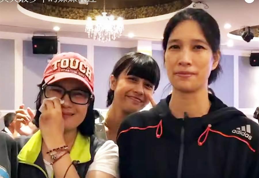 立委陳瑩的助理謝安真(左),找到失散數十年的妹妹(右)。(翻攝圖片/莊哲權台東傳真)