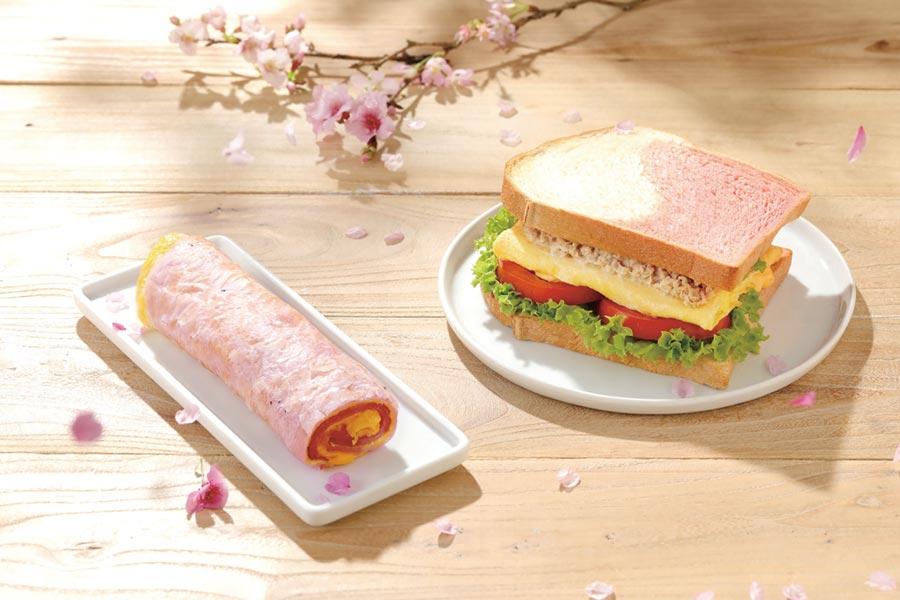 拉亞漢堡採用天然火龍果素材,製作蛋餅與吐司,掀起網美拍照風潮。圖/陳又嘉