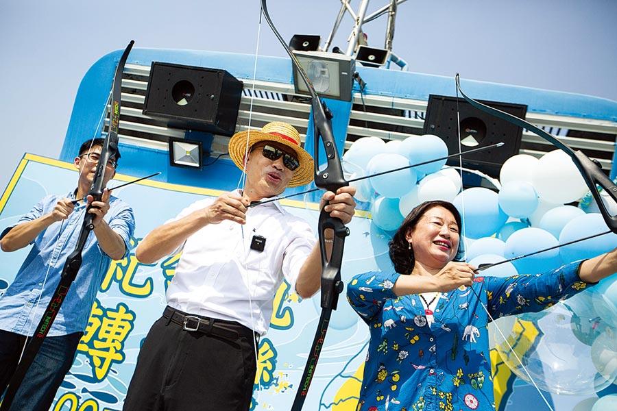 「全國勞工挺韓後援總會」,將與韓國瑜設在高雄的全國競總部同步成立。圖為韓國瑜號召支持者堅定信心。(本報資料照片)