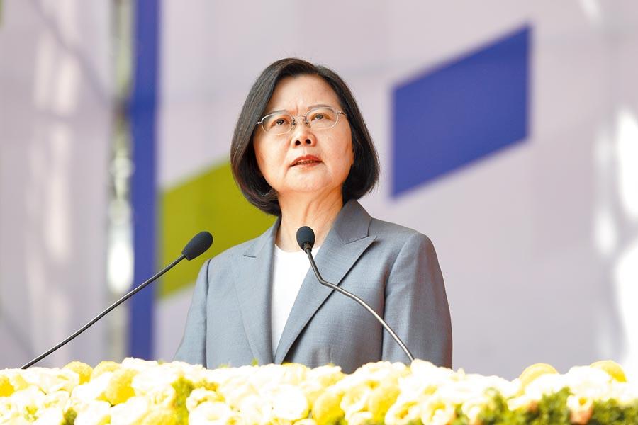 蔡英文總統上任後,企圖把中華民國跟台灣畫上等號,讓中華民國不再是中國,等於剝離中華民國靈魂。(本報資料照片)
