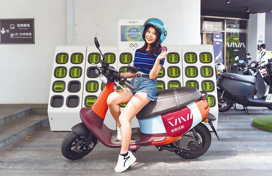 搶年底前買氣,Gogoro、中華汽車不約而同瞄準女性客群,除訴求輕巧靈活,並搭配低總價策略,催出汰舊換新客群。圖為Gogoro首款綠牌電動機車VIVA。(Gogoro提供)