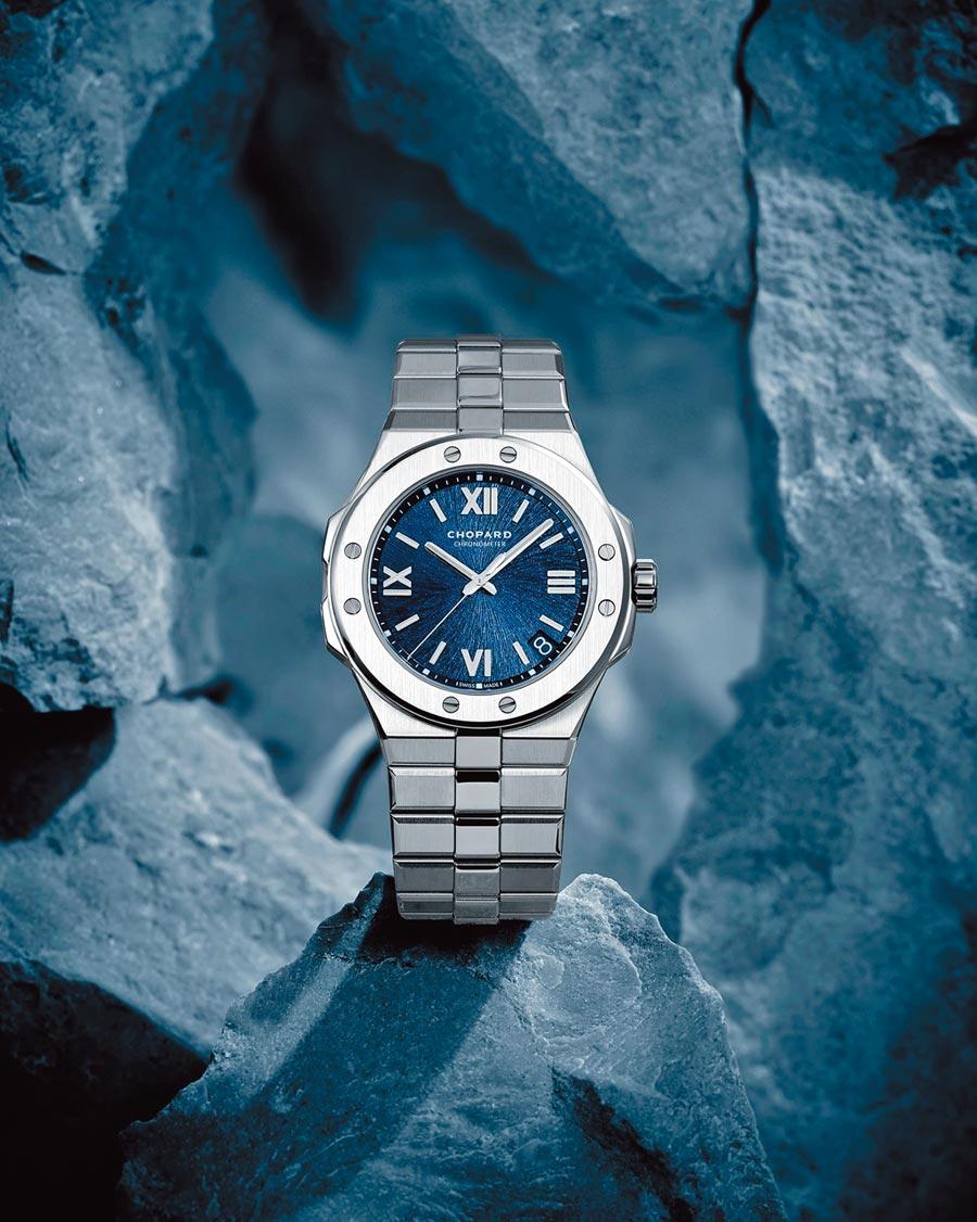 蕭邦年度主力Alpine  Eagle腕表是St. Moritz腕表的進化版,藉此向聯合總裁Karl-Friedrich Scheufele致敬。(CHOPARD提供)
