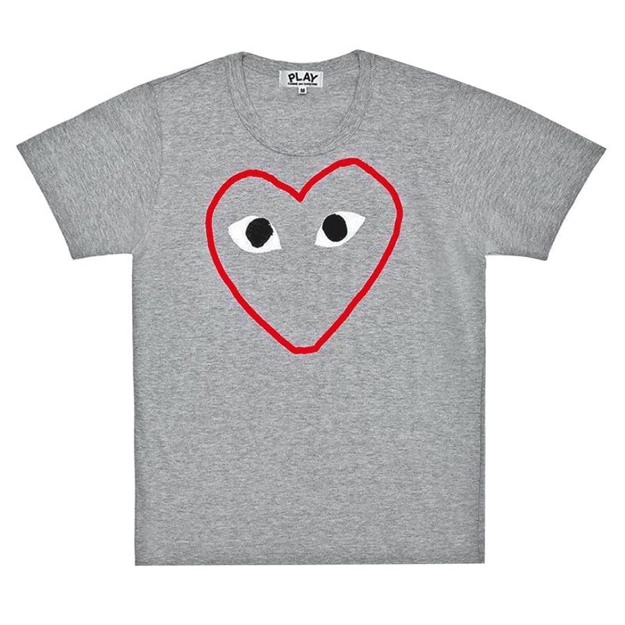 團團微風南山限定販售的COMME DES GARCONS PLAY系列T恤,價格店洽。(團團提供)