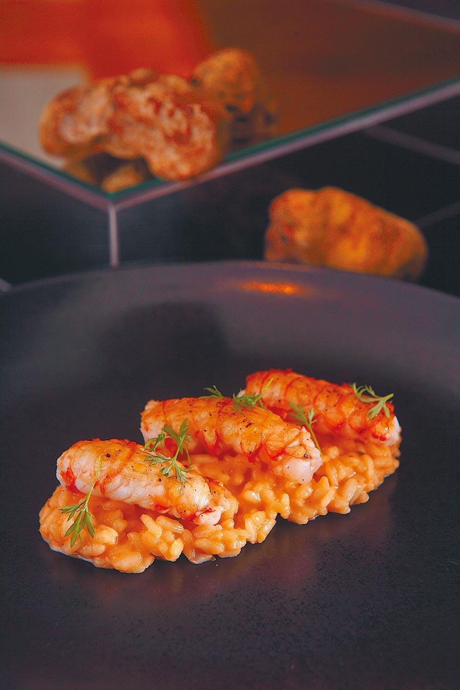 義大利燉飯佐螯蝦。(三二行館提供)