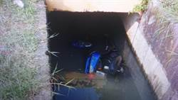 假日出門工作 壯男騎車栽進水溝不治