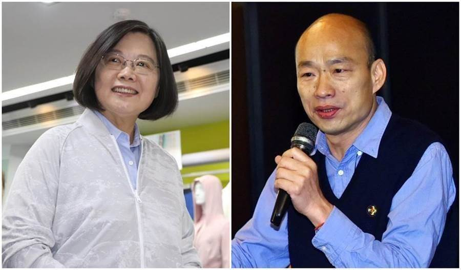 蔡英文(左圖)、韓國瑜(右圖)。(中時資料照片)