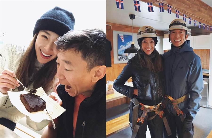 隋棠和老公Tony到冰島慶生。(圖/翻攝自臉書)