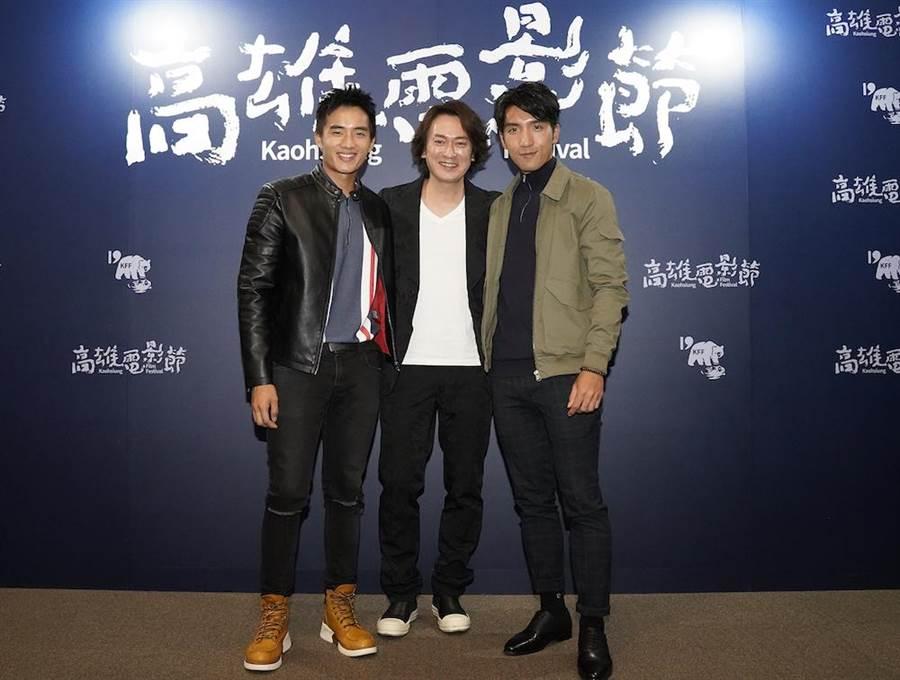 《樂園》演員陳澤耀(左起)、王識賢、原騰出席放映座談。(高雄電影節提供)