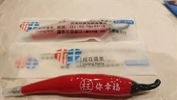 創意辣椒筆延續總統參選創意 柱柱姐選舉小物受歡迎