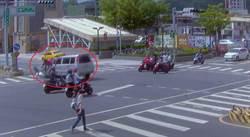 外送員又傳車禍 遭闖紅燈汽車高速撞飛