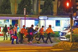 港警遇袭割颈 旺角警署遭火攻