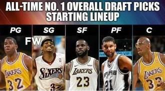 NBA》史上五位置最強狀元 魔術詹皇賈霸