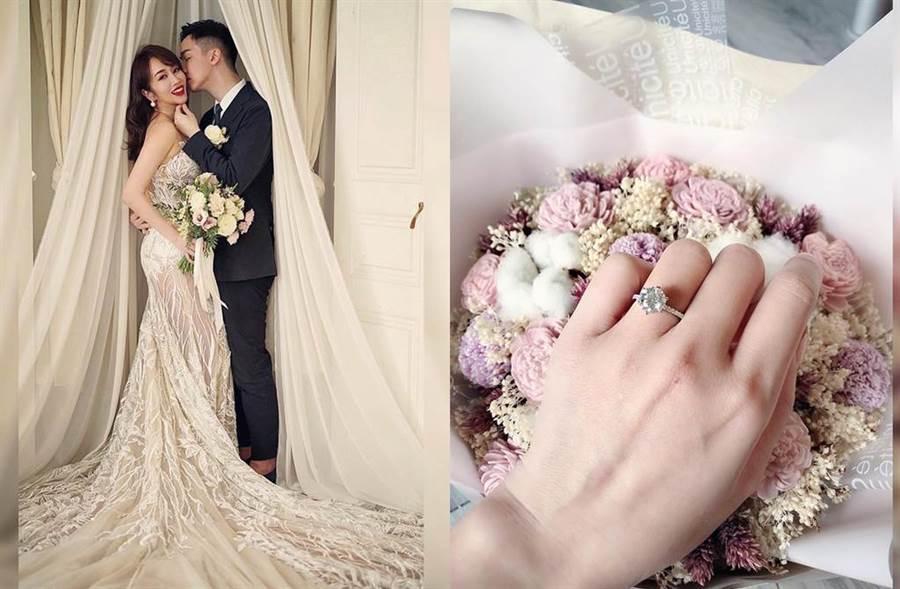 林佩瑤透露年底要和武俊傑結婚。(圖/翻攝自臉書)