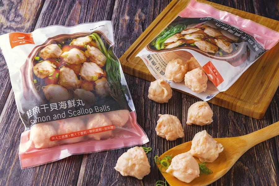 全聯推出「美威鮭魚干貝海鮮丸」,享受美味正是時候。圖/MOWI美威集團提供