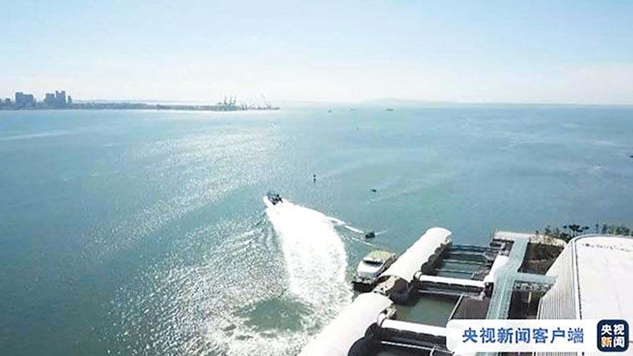 建設金廈大橋須考量海洋水文條件。(取自央視新聞)
