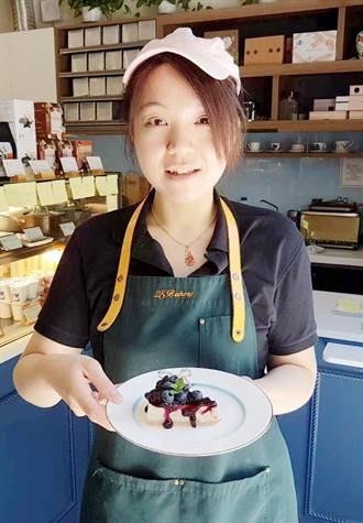 藍莓起士蛋糕 視覺獲得滿足