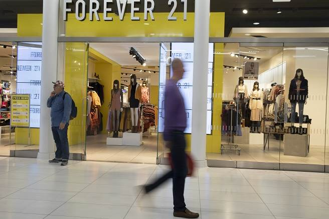 美國零售業今年慘收7600店,瑞信:明年恐再掀倒閉潮。(圖為Forever 21門市/美聯社)
